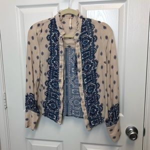 Free People Paisley Pattern Button Down